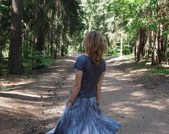 Summer breeze  - Felted Skirt and blouse made of silk and very less of softest wool -