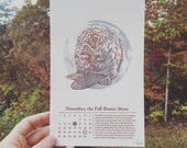 Letterpress Lunar Calendar featuring the Full Moon Names