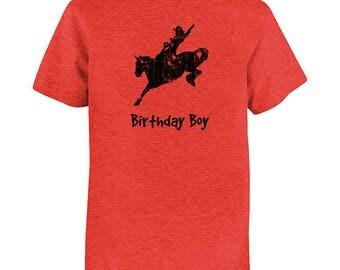 Rodeo Kids Shirt - Cowboy Birthday Boy - Horse Shirt - Multiple Colors Available - T shirt - Gift Friendly - Birthday