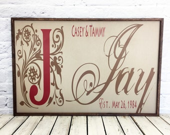 family name sign, last name sign, wedding gift, established sign, personalized sign, anniversary gift, name sign, wood sign, housewarming