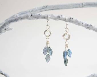 Shimmering Blue Forest Fairy Earrings