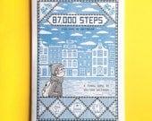 87,000 Steps - Risograph Zine, Amsterdam Travel Comic