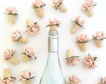 Wine Bottle Stopper, Blush Wedding Favors, Bridal Shower Favors, Wine Themed Bridal Shower, Bottle Stopper, Wine Favors, Wine Theme Wedding