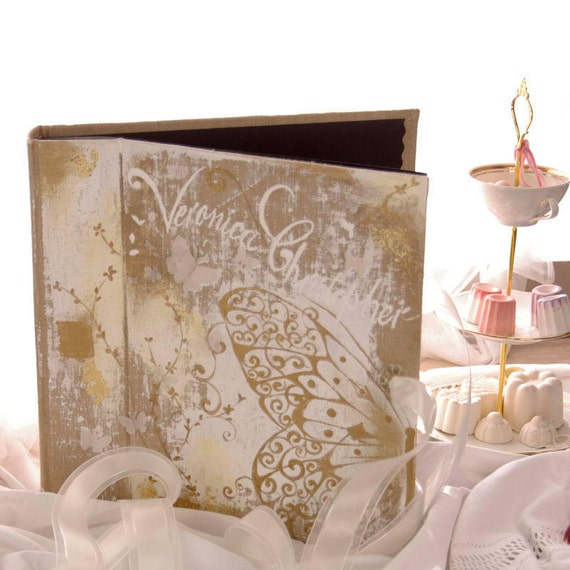 Saint Valentin Album photo mariage  souvenirs pink  butterfly ornements wedding baby shower guestbook scrapbooking hand painting