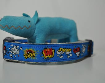 Hemp Webbing Dog Collar  - Little Wham  - 50% Profits to Dog Rescue - Small to Medium Size