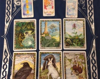 9 Card Current Life Spread: Tarot or Oracle Cards, Psychic, Email