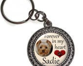 Personalized, Key Chain Or Purse Charm, Pet Memorial, Key Ring, Bag Charm, Loss Of Pet, Dog, Cat, Animal, Photo, Name, Custom, In Memory Of