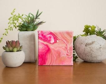 Small Pink Abstract Painting, Modern Art, Acrylic Painting, 4x4 painting, Small Painting, Original Painting, Pink Wall Art,