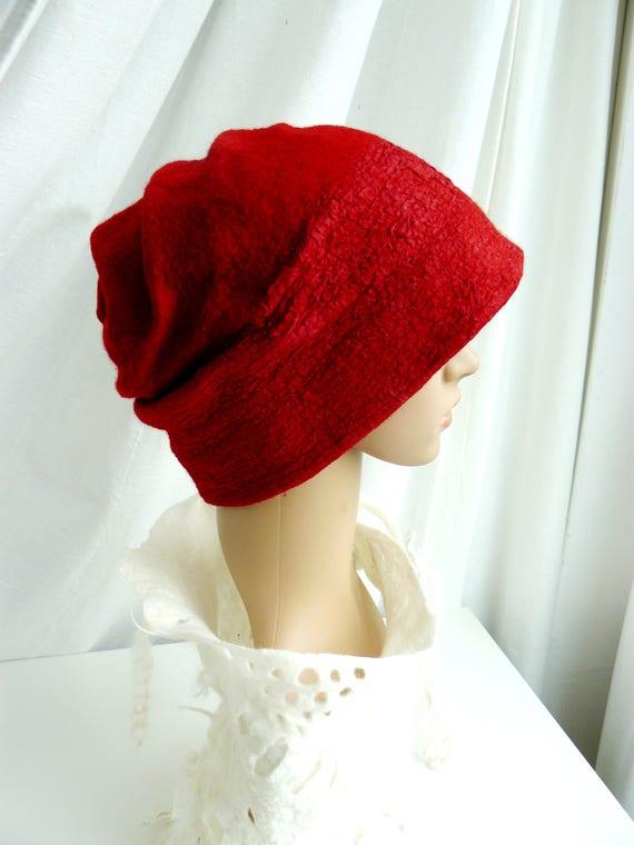 Felt Hat Clothing gift Nuno felted wool beanie Hat by MajorLaura
