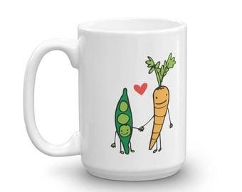 Peas Love Carrots Doodle Mug