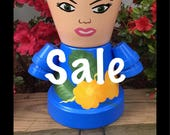 READY TO SHIP, Sale Clay Pot People, Flower Pot People, Pot People, Garden Friends, Clay Pots, garden Statue