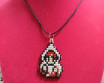 Beaded White Mage Necklace