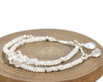 Moonstone Bracelet in Silver, Weddings, June Birthday Gift, Moonstone silver bracelet, June birthstone Jewelry, Moonstone Jewelry, Wife Gift