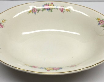 Edwin M Knowles Semi Vitreous Oval Vegetable Bowl