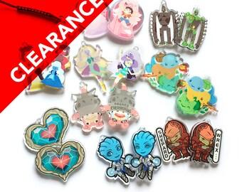 CLEARANCE CHARMS - Heart Piece, Steven Universe Garnet Rose Pearl Amethyst Opal, Laputa Robot, Mega Slowbro, Pokemon, Liara, Wrex
