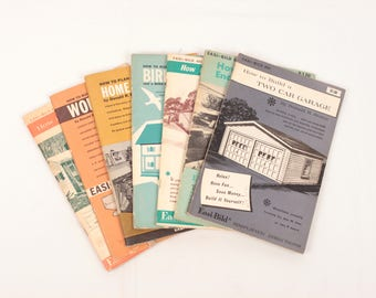 60s how to manuals // woodworking // set of 7