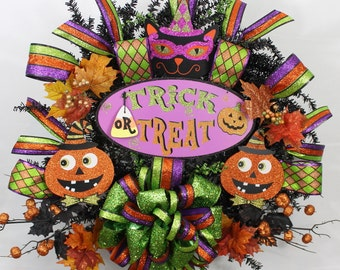 Halloween Wreath, Halloween Door Decor, SouthernCharmFlorals, Scary Wreath, One Of A Kind Wreath, Halloween Decor, OOAK Wreath, Fall Wreath