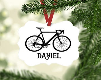 bike ornament bicycle christmas tree ornament biking gift custom bike gifts biker - Bicycle Christmas Ornament
