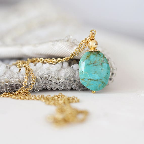 Kingman Turquoise Necklace - Genuine Turquoise Jewelry