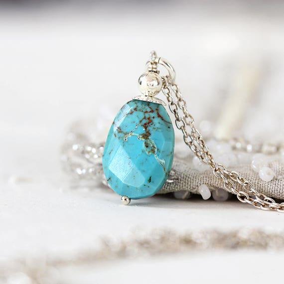Arizona Turquoise Pendant - Real Turquoise Necklace
