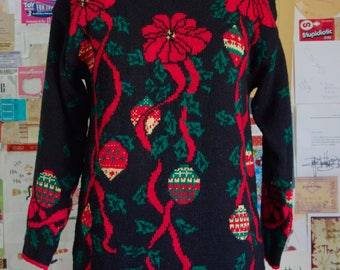 XMAS in JULY SALE : 1990s ugly holiday sweater