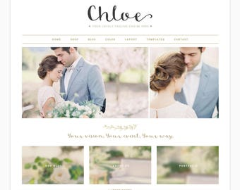 "Wordpress Theme, Wordpress Ecommerce Theme Responsive Blog Theme Design ""Chloe"" - Genesis Website Theme"