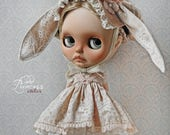 "Luxury Ooak Silk Set ""Love At First Sight"" For Blythe/Pullip Dolls By Odd Princess, Exclusive Outfit, Special Dress"