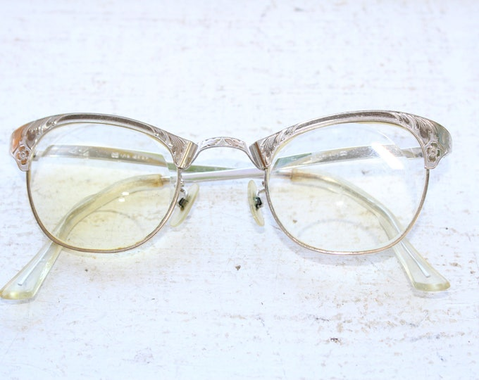 Mid Century 12K Gold Filled Women's Eye Glasses Vintage 1950s
