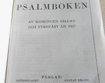D394)  1947 Swedish Book of Psalms