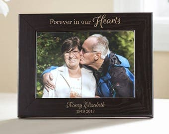 Personalized Sympathy Picture Frame (Black): Personalized Memorial Frame, Custom Engraved Sympathy Gift, Memorial Gift, SHIPS FAST
