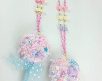 Lollipop Necklace, Fairy Kei. Fairy Kei Necklace, Necklace, Jewelry, Japanese Fashion, Fairy Kei Fashion,Pastel