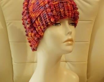 Crochet Bobble Hat, Textured Hat, Bobble Beanie Hat, Crochet Hat, Boho Beanie Hat, Crochet Boho Hat, FREE UK DELIVERY
