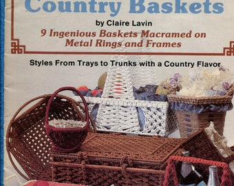 1970s Macrame' Country Baskets Pattern Booklet