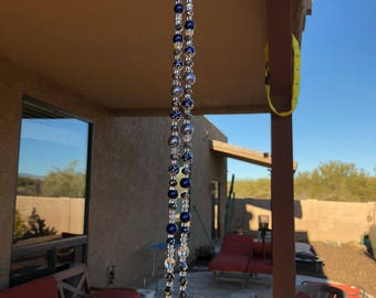 """Glass and Bead Wind Chime """"Classy"""""""