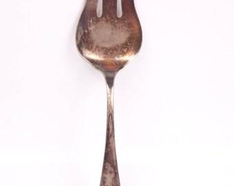 Vintage Cake Fork Serving Fork Stratford Silver Co Dessert Server Silver Plate