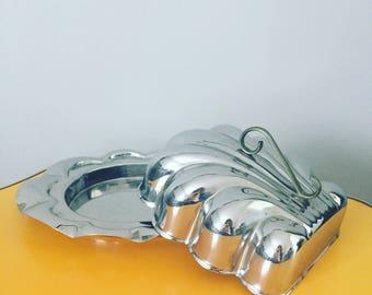 Vintage Metal Butter Dish