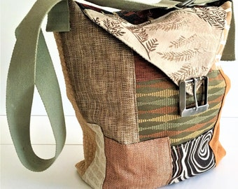 Patchwork Bag, Crossbody Bag, Fabric Bags, Patchwork Tote, Birthday Gift, Large Bag, Vegan Bag, Eco Friendly Bag, Patchwork Purse, Handbags