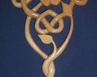 Celtic Hearts Entwined with Rose