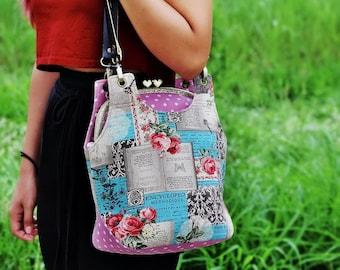 Fold over coin purse / Triple pockets purse / Credit card holder