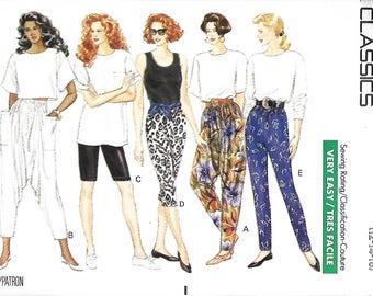 Butterick 4658 Misses Harem Pants, Bike Shorts, Leggings And Tapered Pants Pattern, 12-14-16 & 18-20-22,  UNCUT