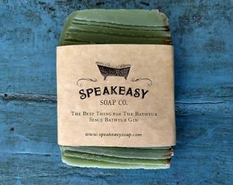 Lemongrass & Clary Sage Soap, Speakeasy Soap, lemongrass soap, natural soap, olive oil soap, vegan, handmade soap