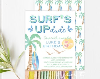 Surf Party Invitations - Surf's Up Invitations - Surfing Invitations