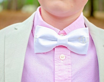 Easter Bow Tie with Cross & Monogram, First Communion Bow Tie with Cross, Bow Ties for Boys, Monogrammed Bow Tie For Boy, Baby Easter Tie