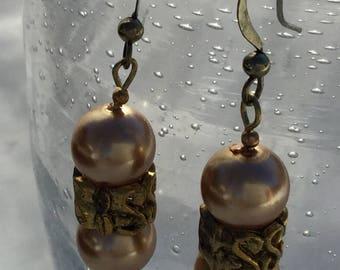 Earrings Dangle Bronze Bears Spacer