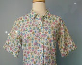 Cotton House Dress / Vtg ...