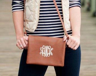Monogram Crossbody Purse, Crossbody Bag, Messenger Bag, Personalized Handbag, Gifts for Her, Personalized Gifts, Monogram Clutches, Purses