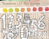Numbers -- 11 digi stamps bundle