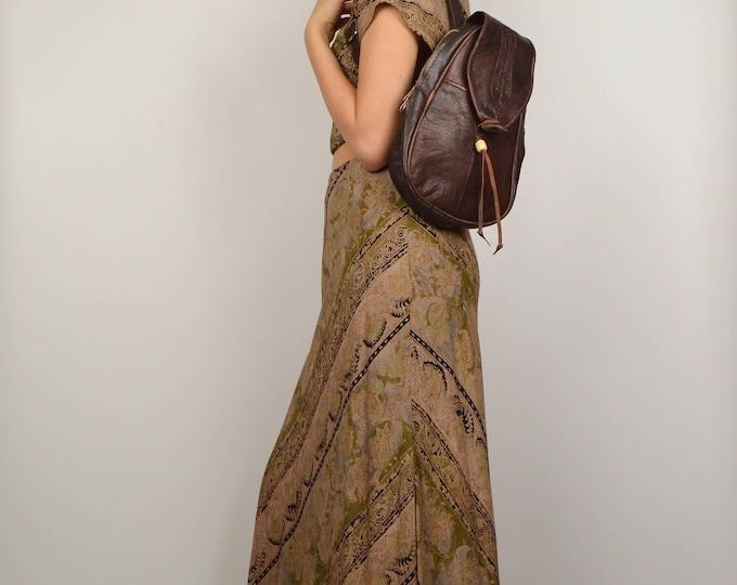 Brown Leather Backpack Vintage