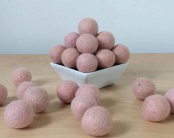 Felt Balls: PALE PINK, Felted Balls, DIY Garland Kit, Wool Felt Balls, Felt Pom Pom, Handmade Felt Balls, Pink Felt Balls, Pink Pom Poms