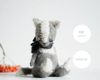 Pdf Sewing Pattern & Tutorial Mohair Fox 7 Inches Stuffed Animal Pattern For Women Artist Teddy Bear Pattern Plush Pattern Soft Toys